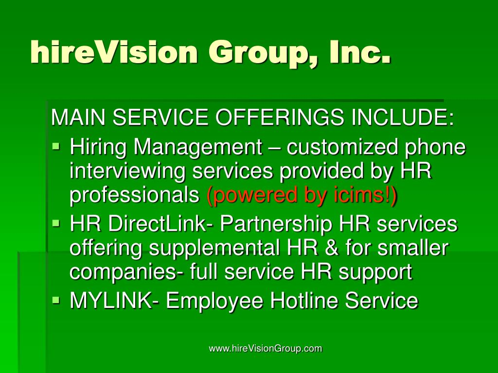 hireVision Group, Inc.