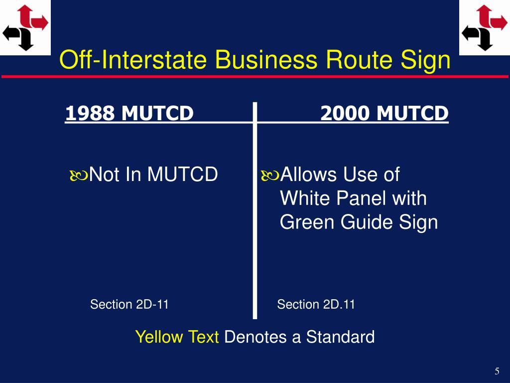 Off-Interstate Business Route Sign