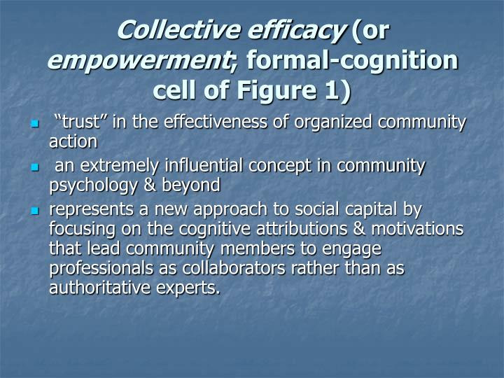Collective efficacy or empowerment formal cognition cell of figure 1