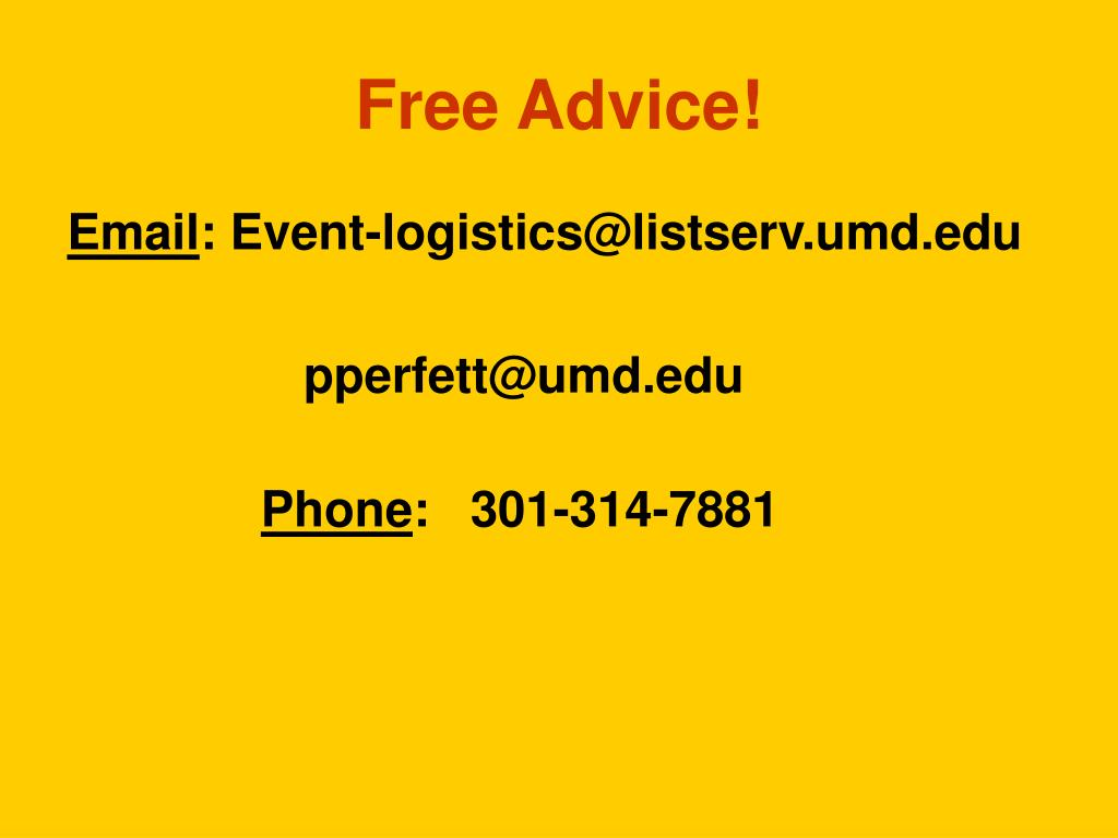 Free Advice!