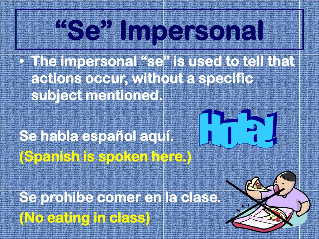"""""""Se"""" Impersonal"""