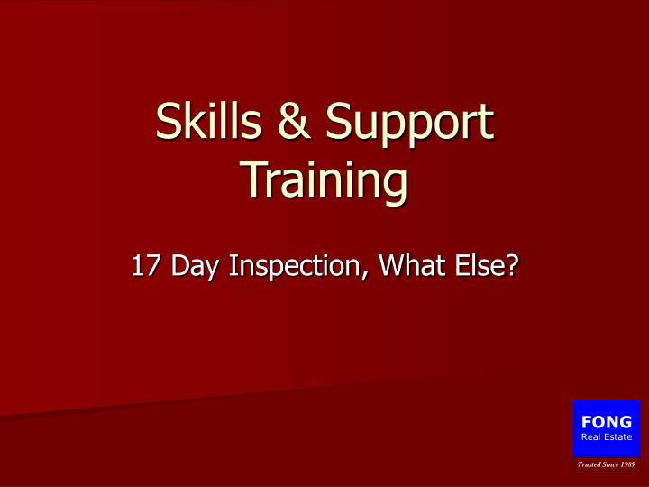 Skills support training l.jpg