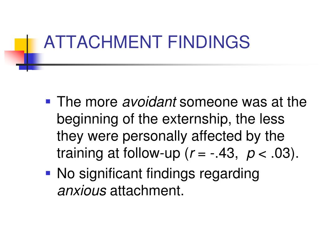 ATTACHMENT FINDINGS