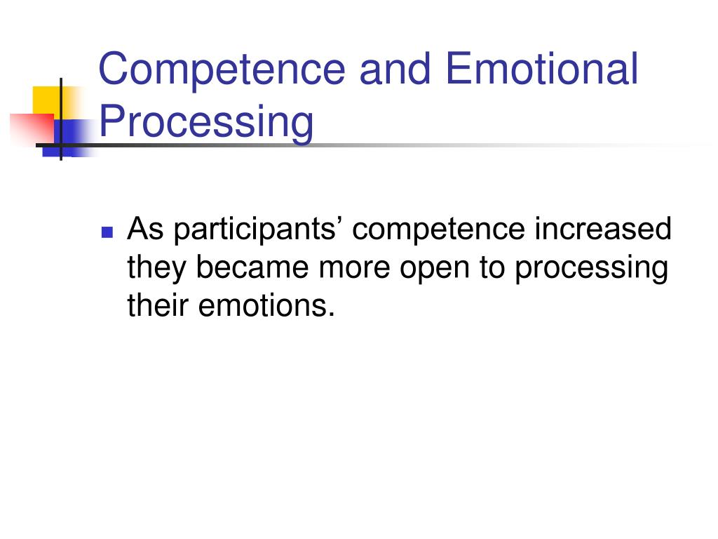 Competence and Emotional Processing