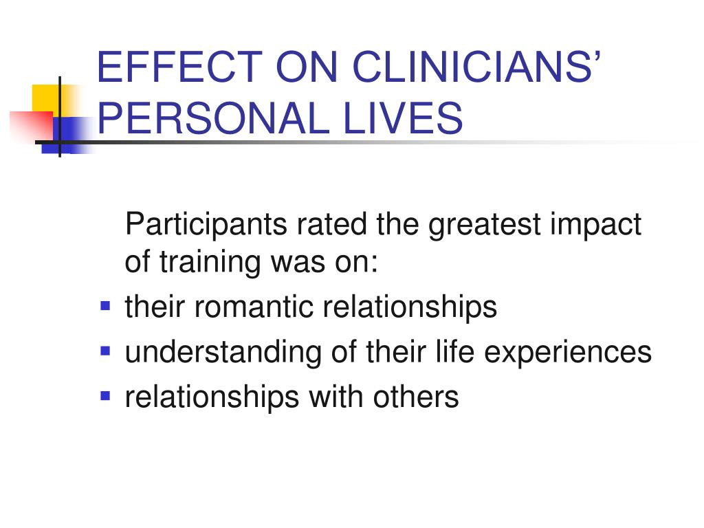 EFFECT ON CLINICIANS'