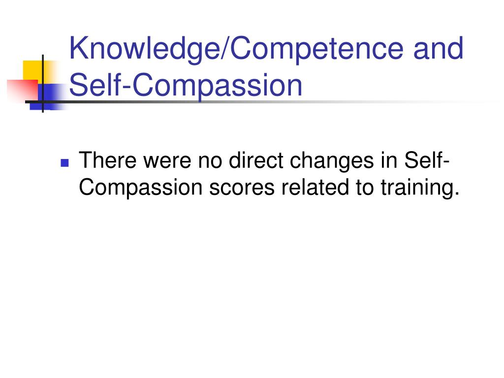 Knowledge/Competence and Self-Compassion