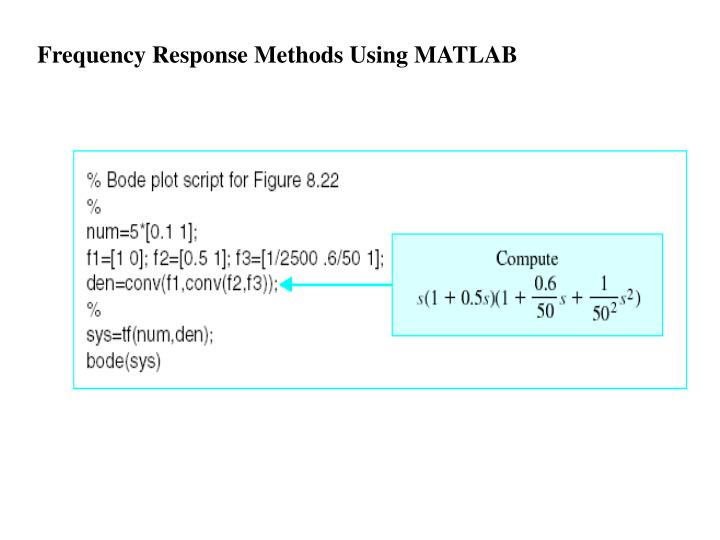 Frequency Response Methods Using MATLAB