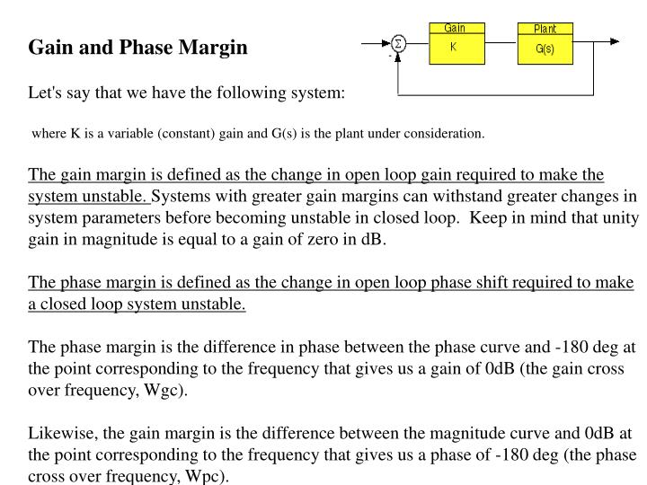 Gain and Phase Margin