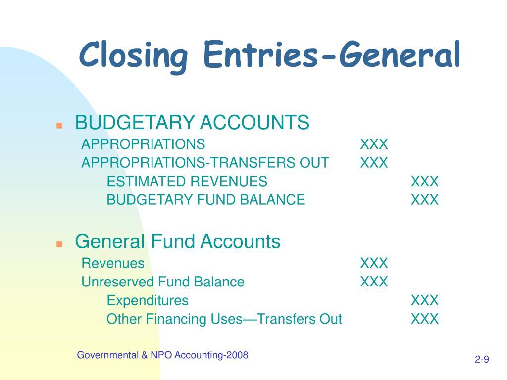 Closing Entries-General