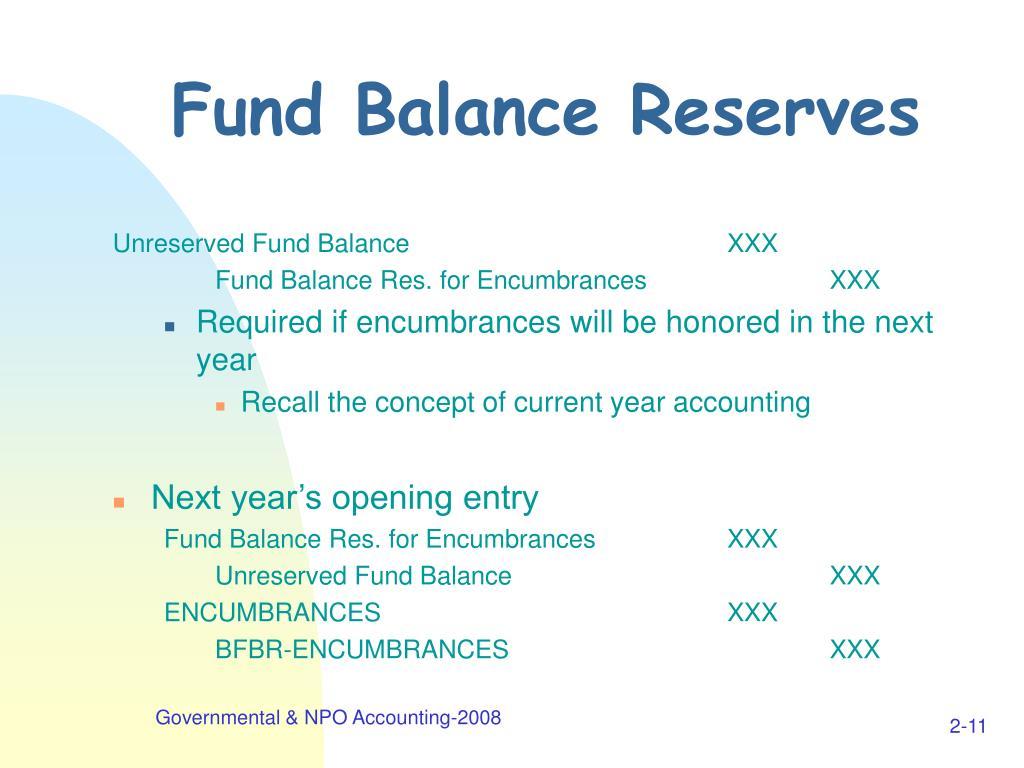 Fund Balance Reserves