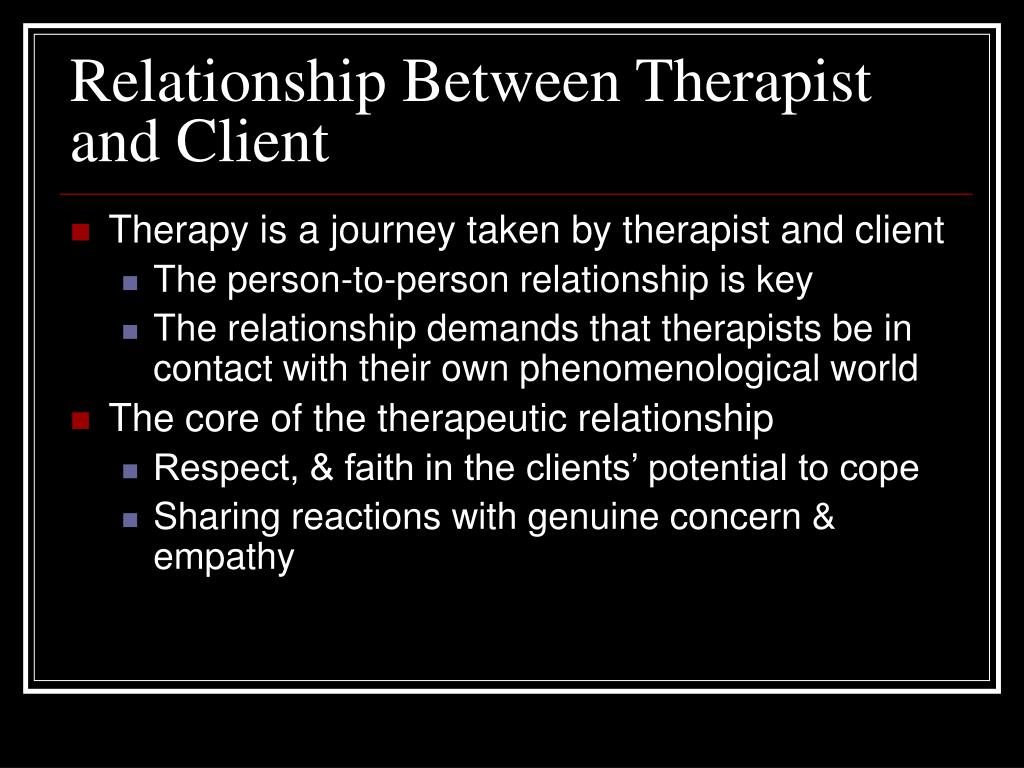 developing the therapeutic relationship in counselling