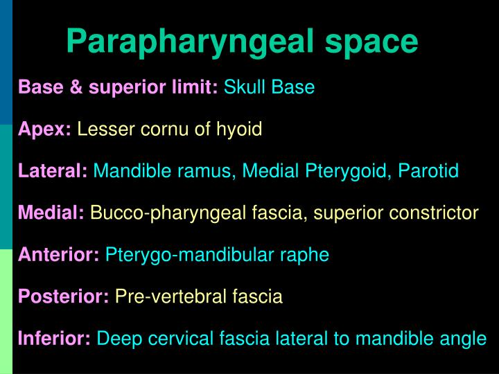 Parapharyngeal space