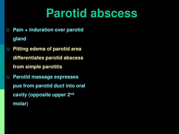 Parotid abscess