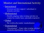 mindset and international activity