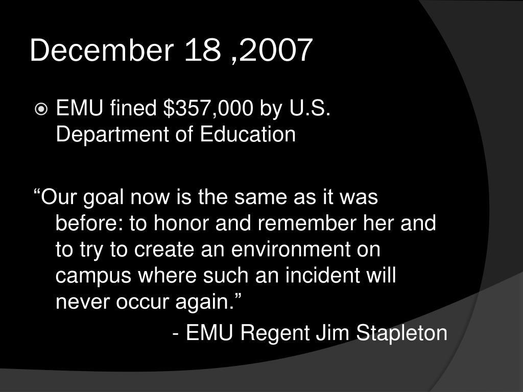December 18 ,2007