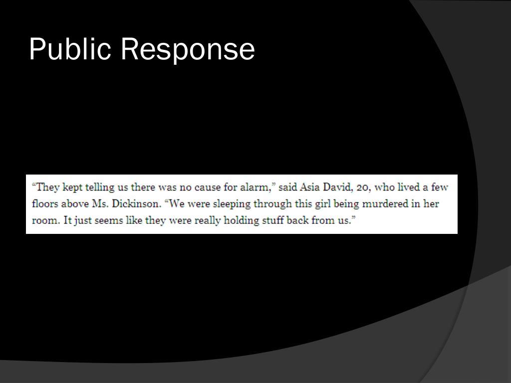 Public Response
