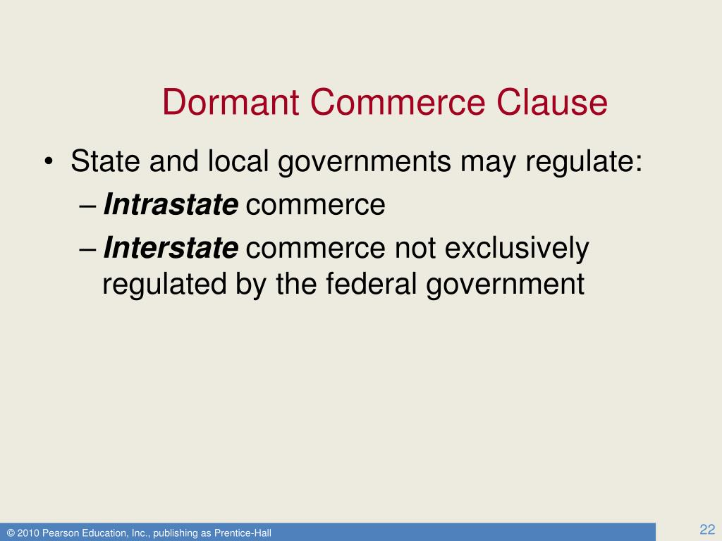 Dormant Commerce Clause