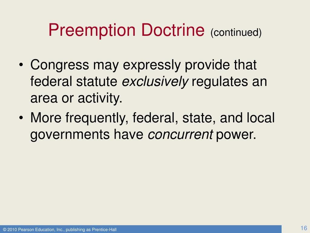 Preemption Doctrine