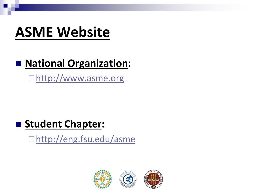 ASME Website