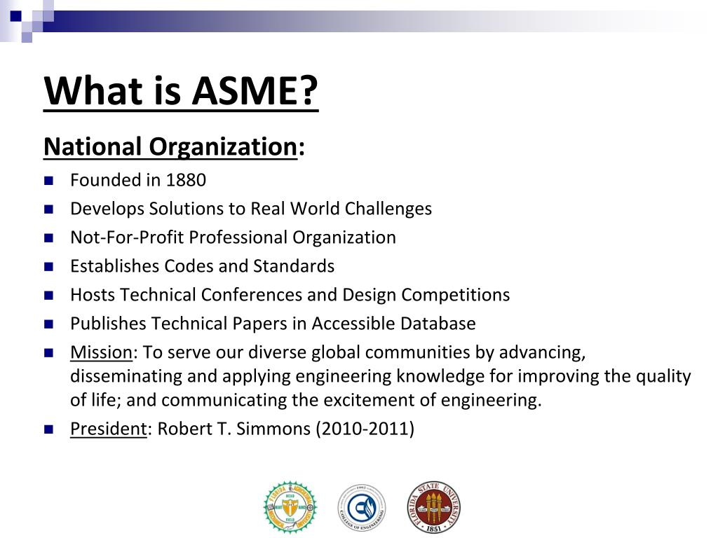 What is ASME?