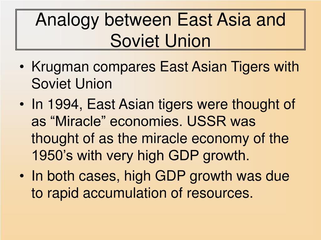 Analogy between East Asia and Soviet Union