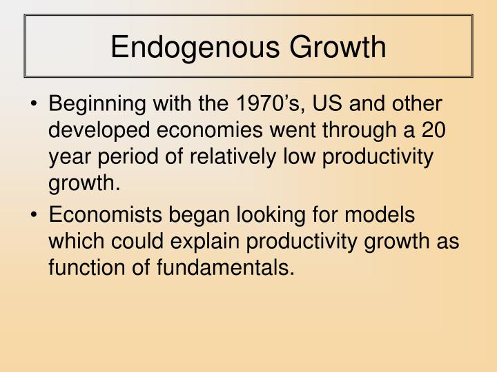 Endogenous growth2