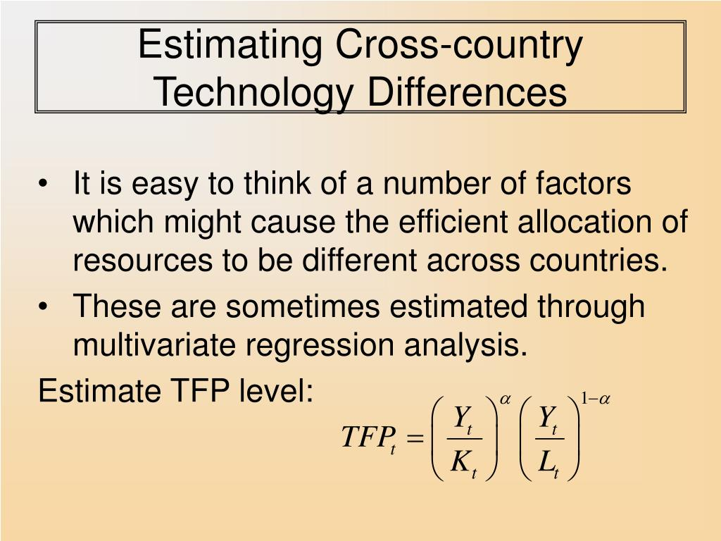 Estimating Cross-country Technology Differences