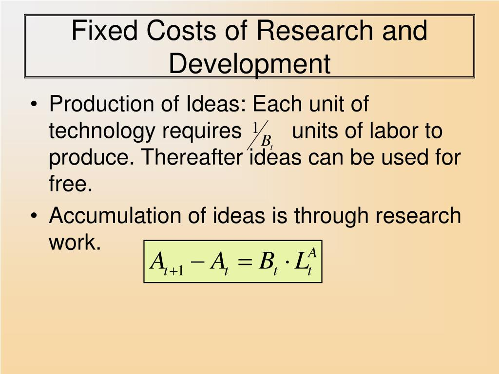 Fixed Costs of Research and Development