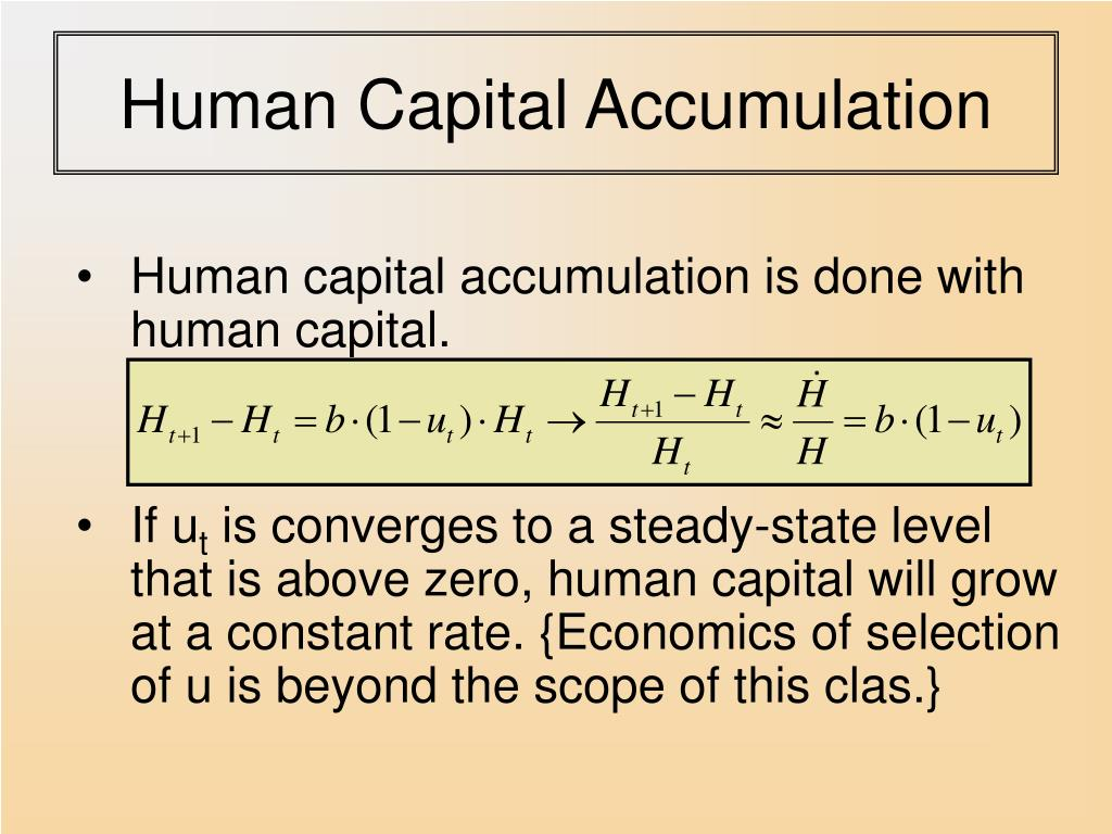 Human Capital Accumulation