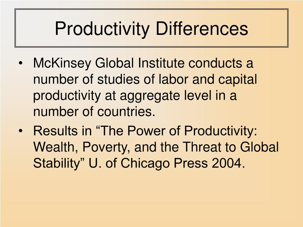 Productivity Differences