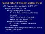 formalization fj inner classes fji