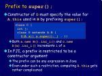 prefix to super