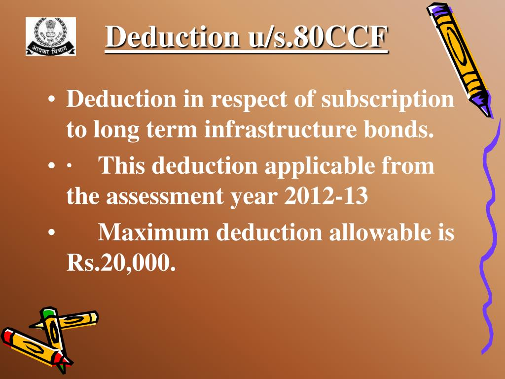 Deduction u/s.80CCF