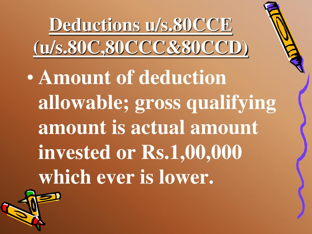 Deductions u/s.80CCE (u/s.80C,80CCC&80CCD)
