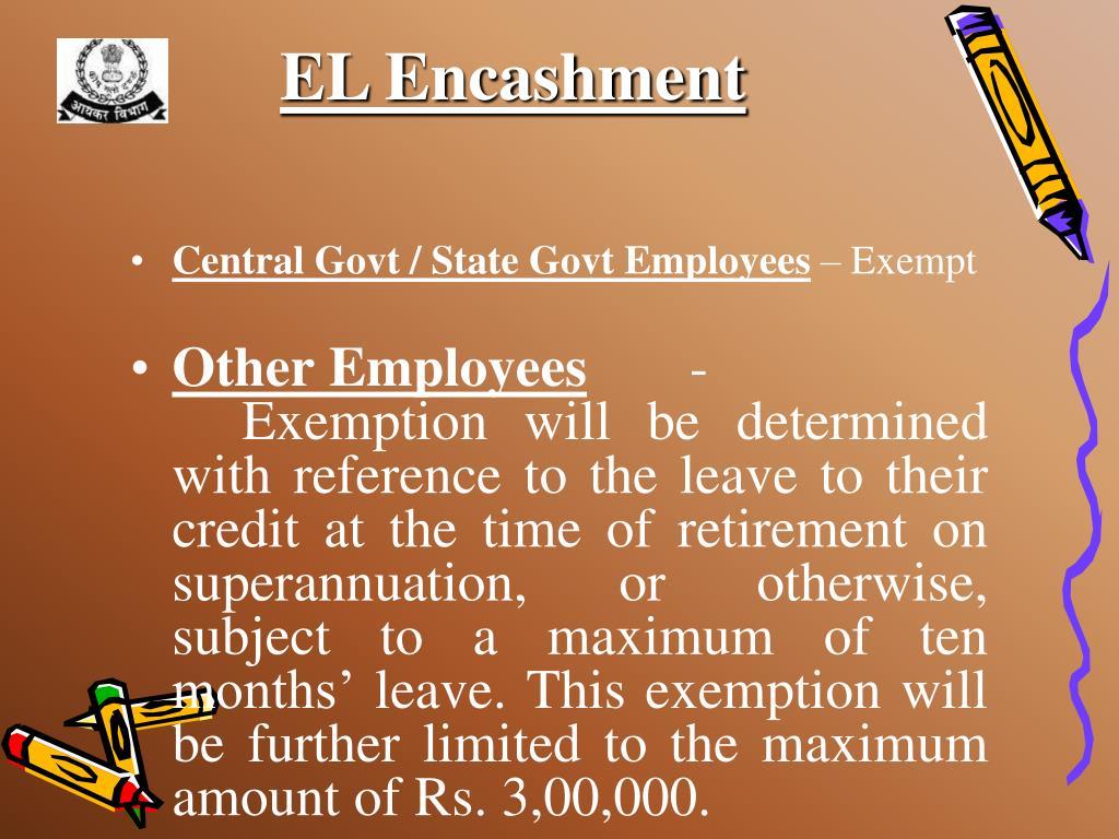 EL Encashment