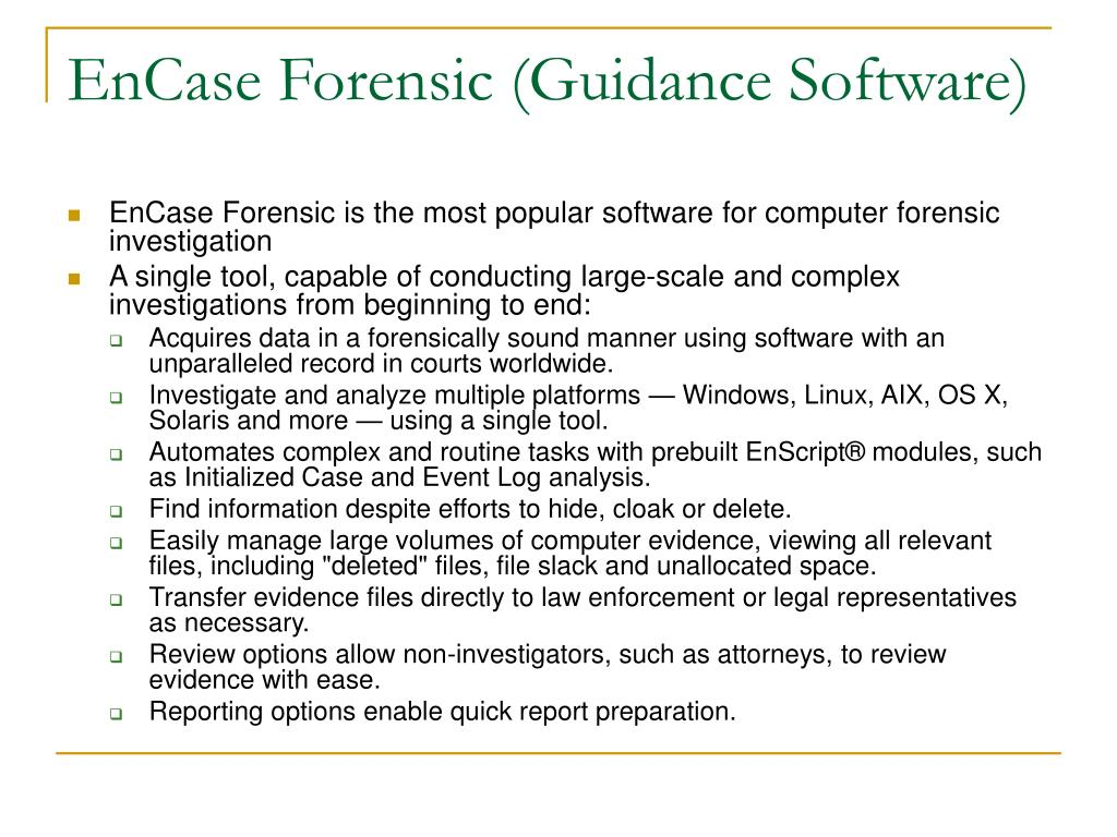 EnCase Forensic (Guidance Software)