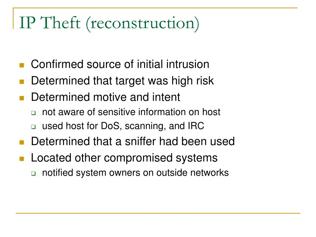 IP Theft (reconstruction)
