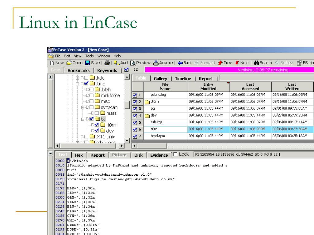 Linux in EnCase