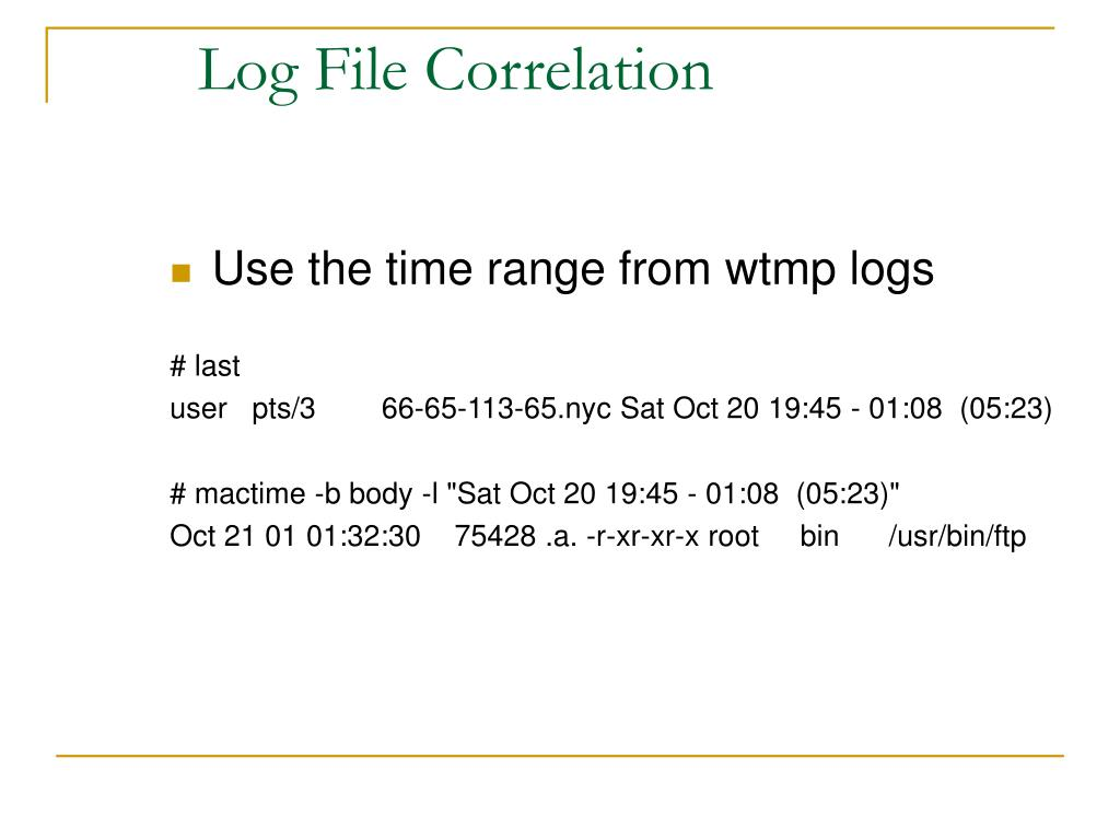 Log File Correlation