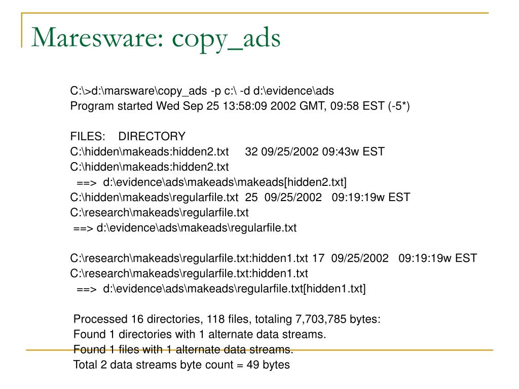 Maresware: copy_ads