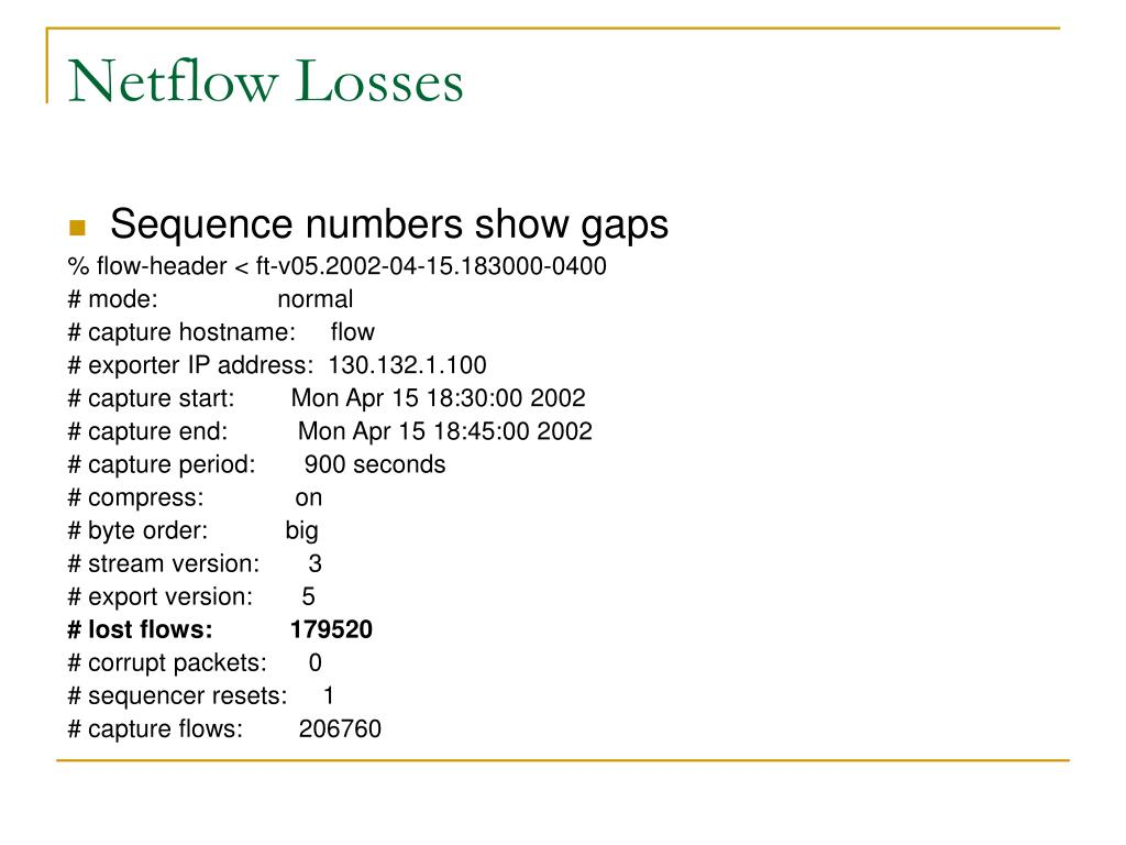 Netflow Losses