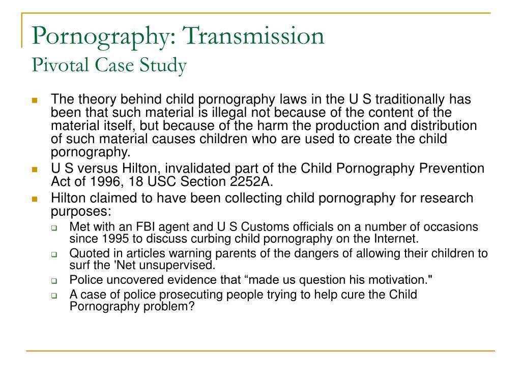 Pornography: Transmission