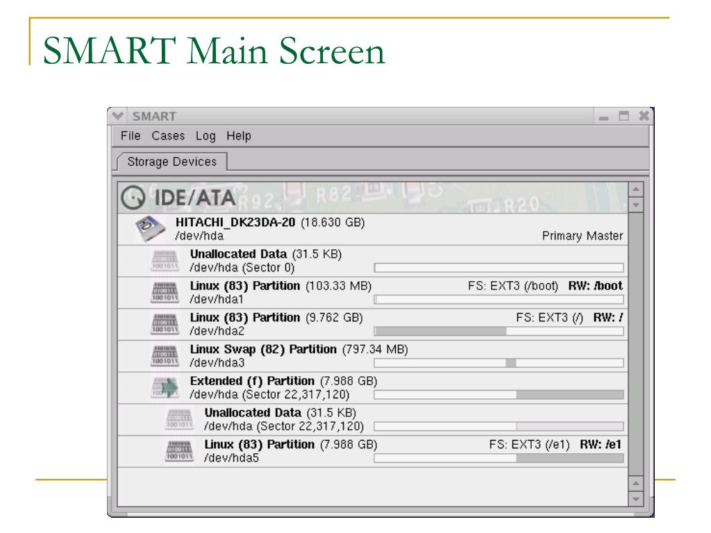 SMART Main Screen