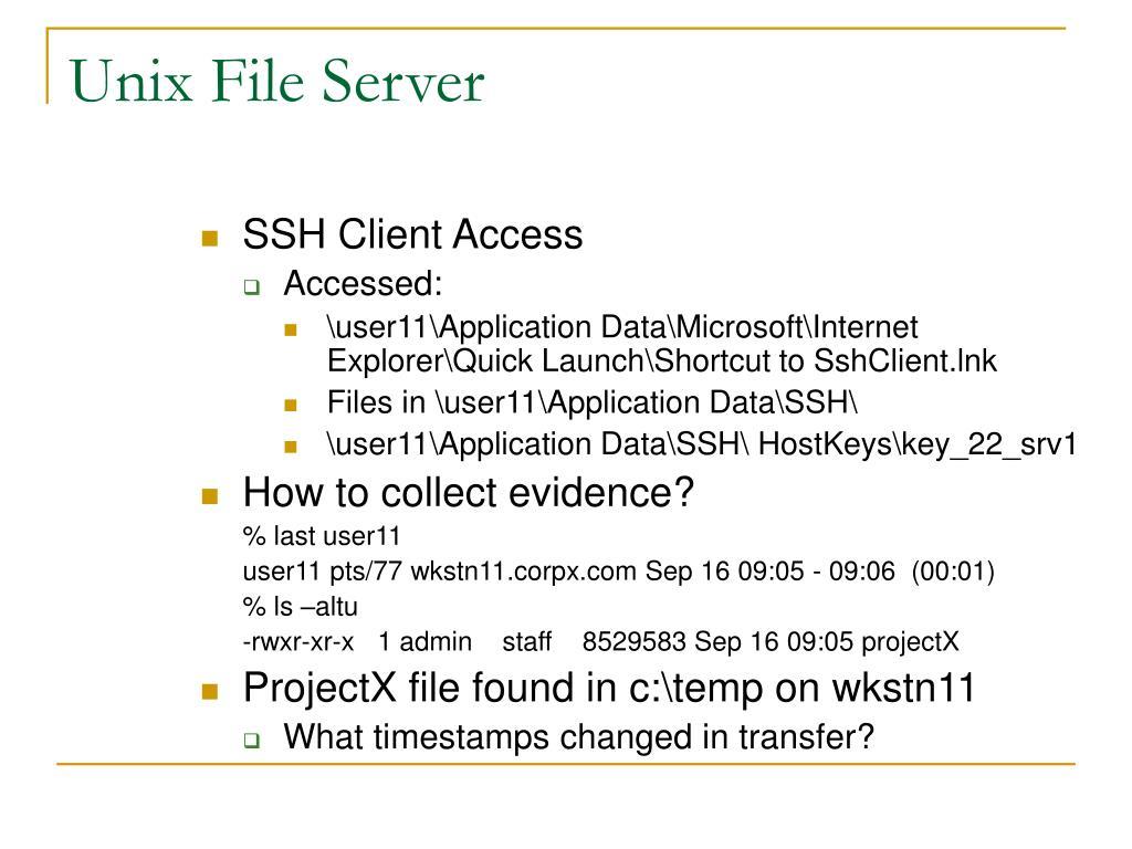 Unix File Server