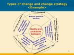 types of change and change strategy example