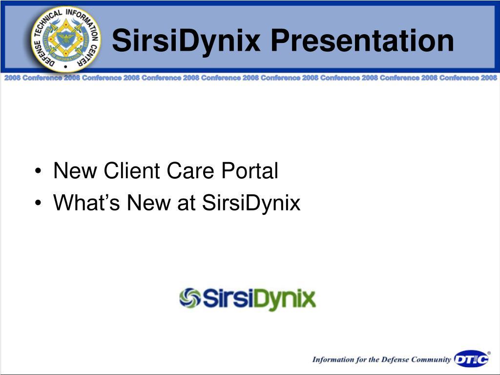 SirsiDynix Presentation