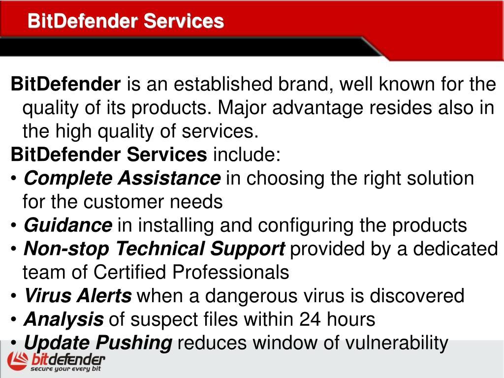 BitDefender Services
