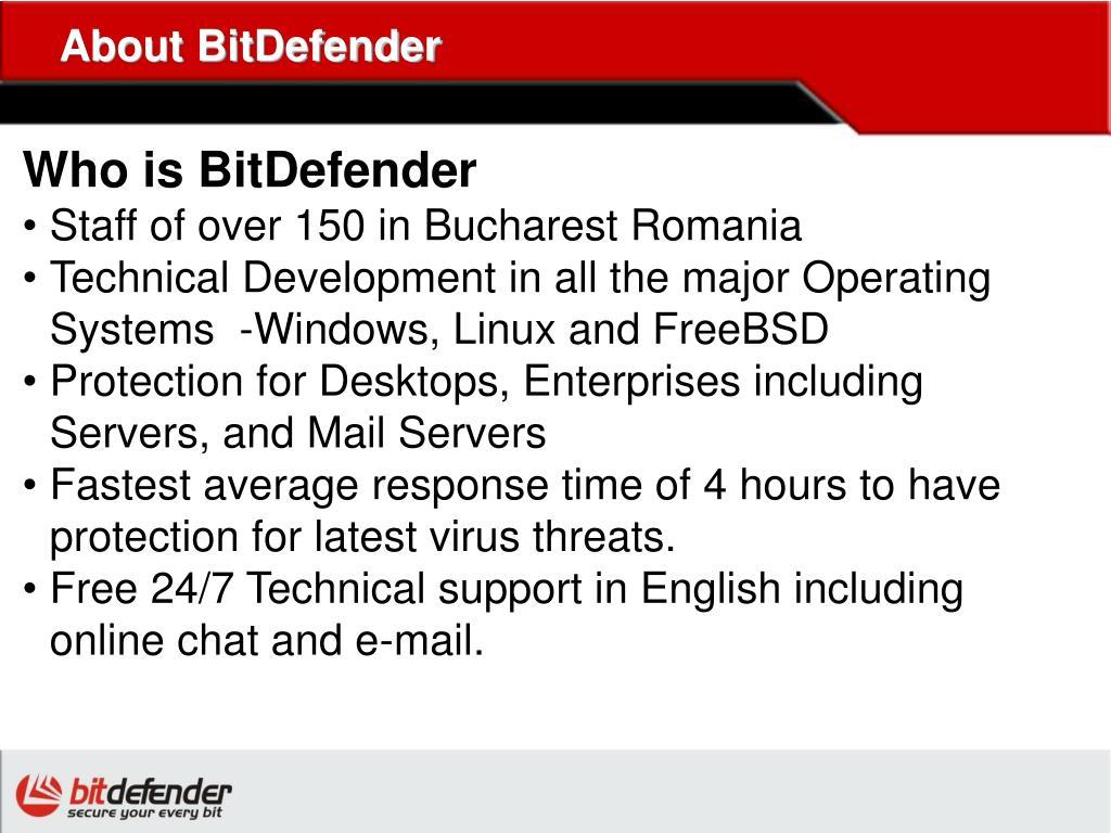 About BitDefender