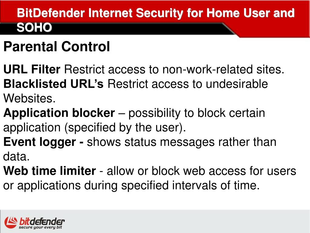BitDefender Internet Security for Home User and SOHO