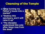 cleansing of the temple